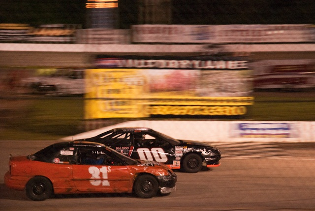 Todd driving the # 31 car at the 2009 Faster Pastor races