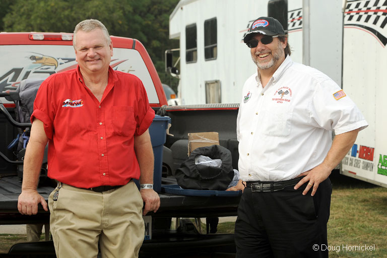 Doug Strasburg and Todd Christopherson at MIS in August, 2012.