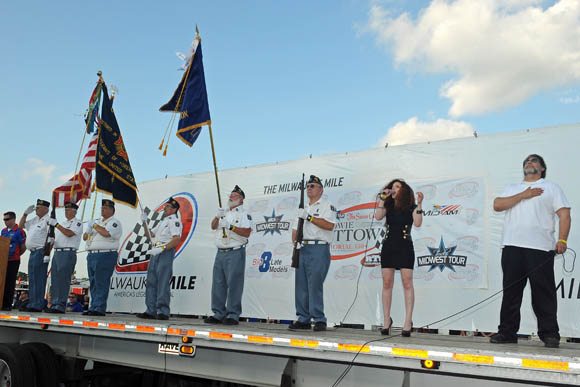 National Anthem at Milwaukee Mile and ARCA Fest 2013
