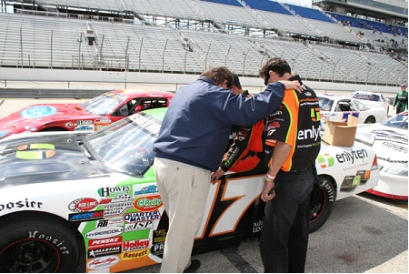 Prayer with Tanner Berryhill at Milwaukee Mile 2009